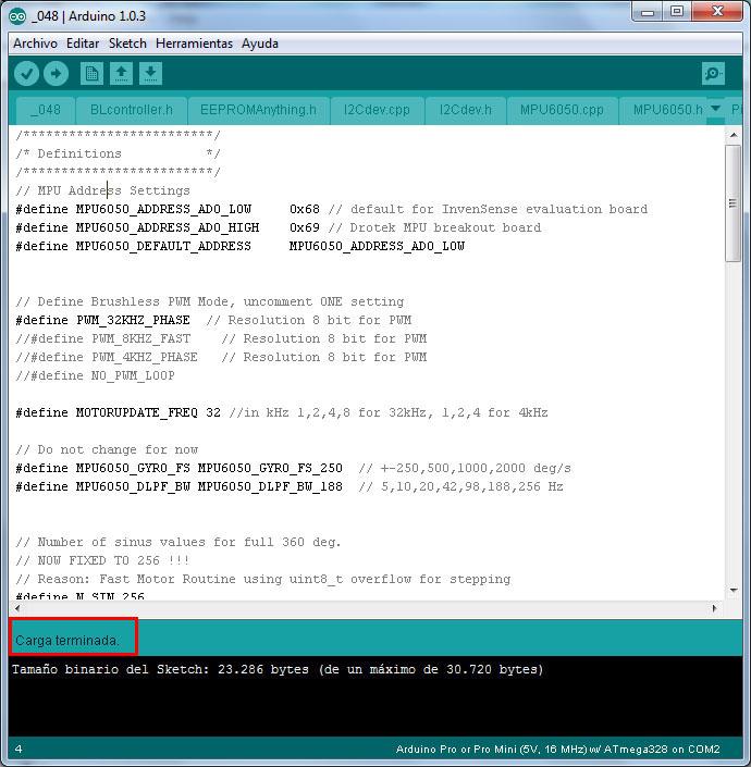 Configuracion controladora gimbal brushless- www.desdeelairerc.es 12