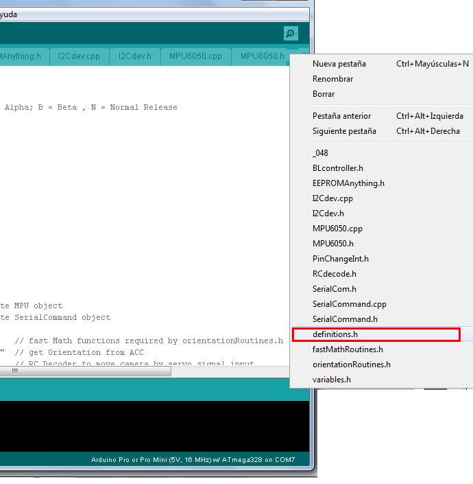 Configuracion controladora gimbal brushless- www.desdeelairerc.es 5