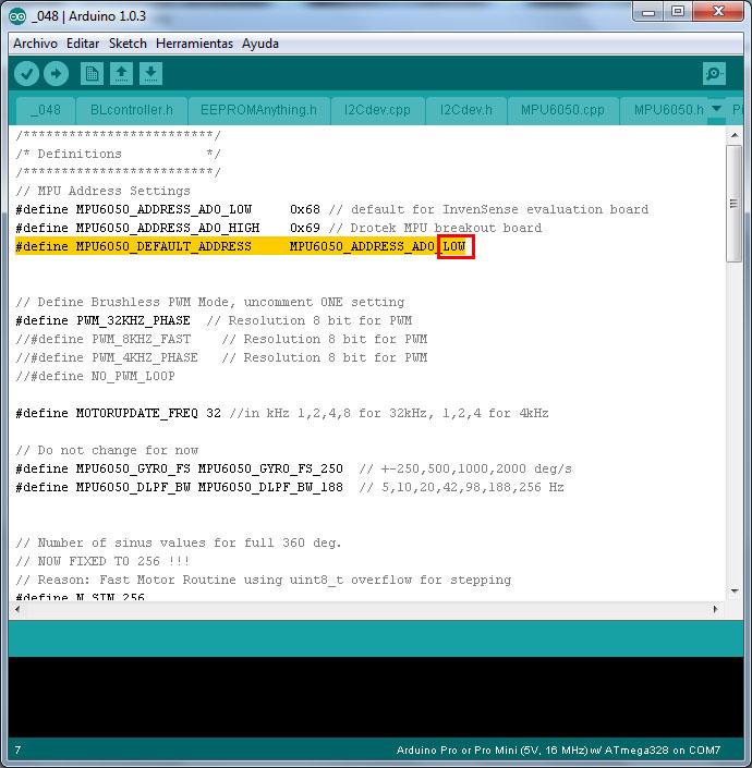 Configuracion controladora gimbal brushless- www.desdeelairerc.es 6