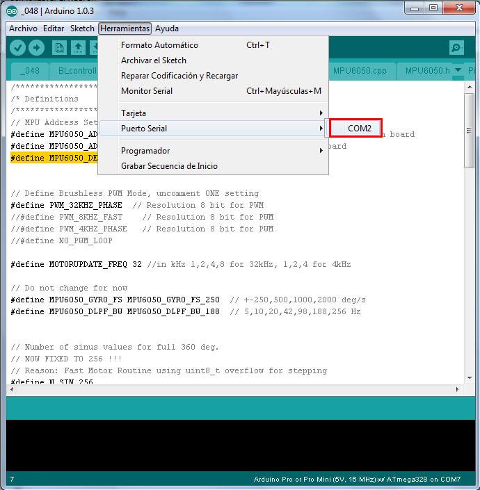 Configuracion controladora gimbal brushless- www.desdeelairerc.es 7