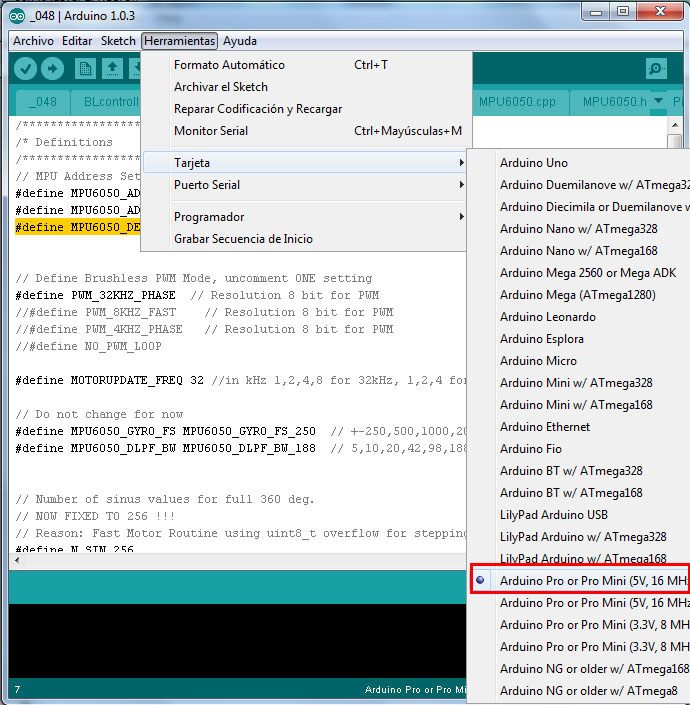 Configuracion controladora gimbal brushless- www.desdeelairerc.es 8