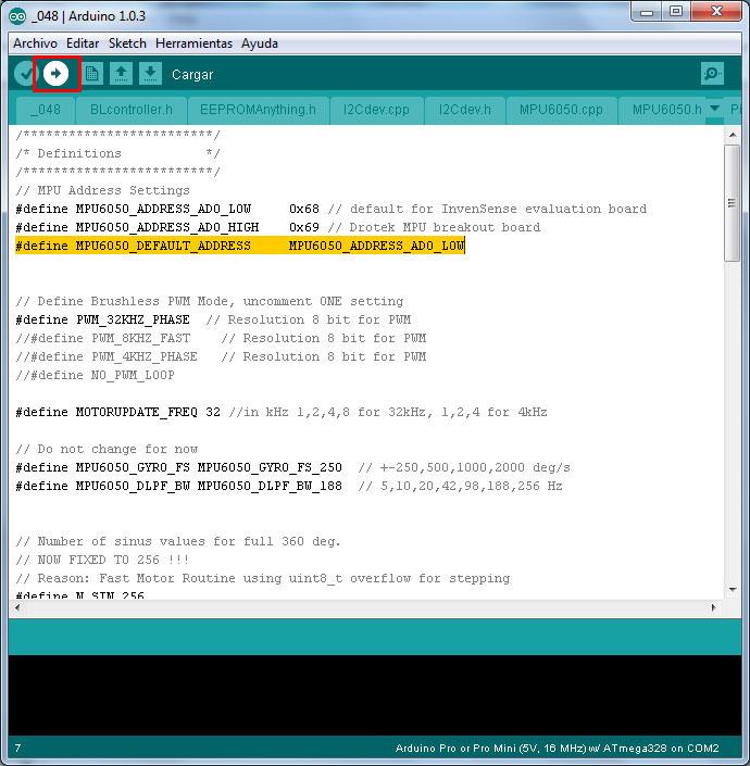 Configuracion controladora gimbal brushless- www.desdeelairerc.es 9