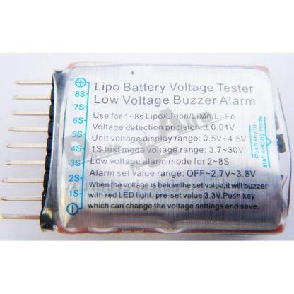 Alarma bajo voltaje LIPO cofigurable con LCD