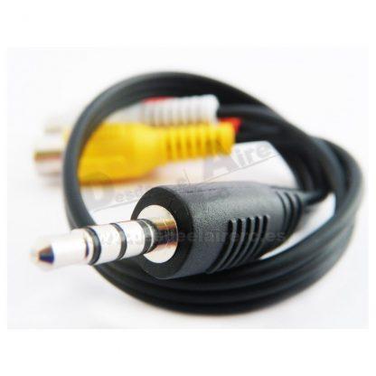 Cable AV 3.5mm a RCA A/V 300mm FatShark