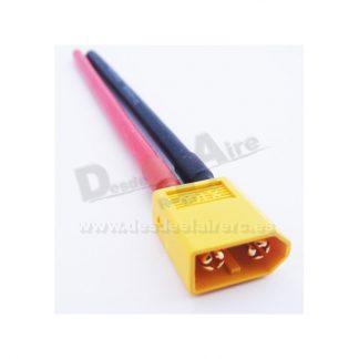 Conector XT60 Macho con Cable 12AWG Silicona