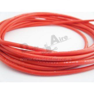 Cable de silicona 12AWG (1mtr) Rojo